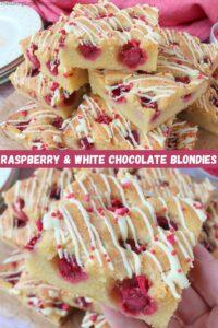 Raspberry & White Chocolate Blondies
