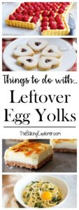 Leftover egg yolks
