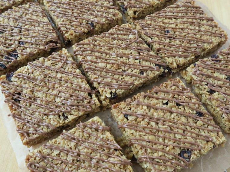 Flapjacks with Chocolate & Sultanas
