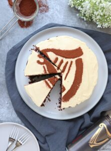 Sliced Chocolate Guinness Cake
