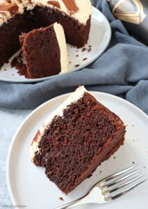 Slice of Chocolate Guinness Cake