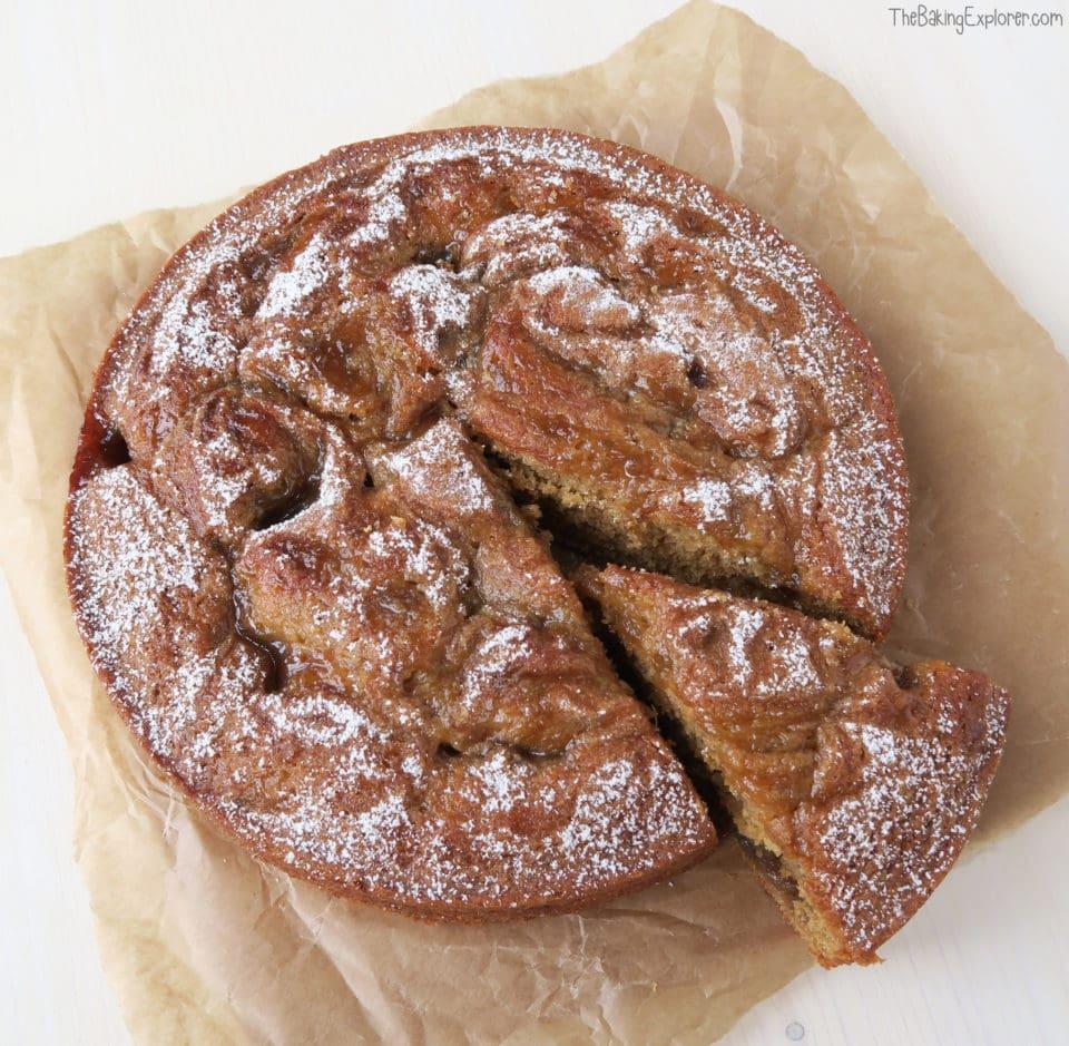 Rhubarb and Ginger Jam Cake