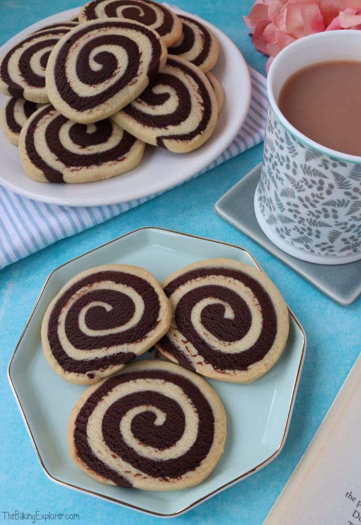 Chocolate & Vanilla Pinwheel Biscuits