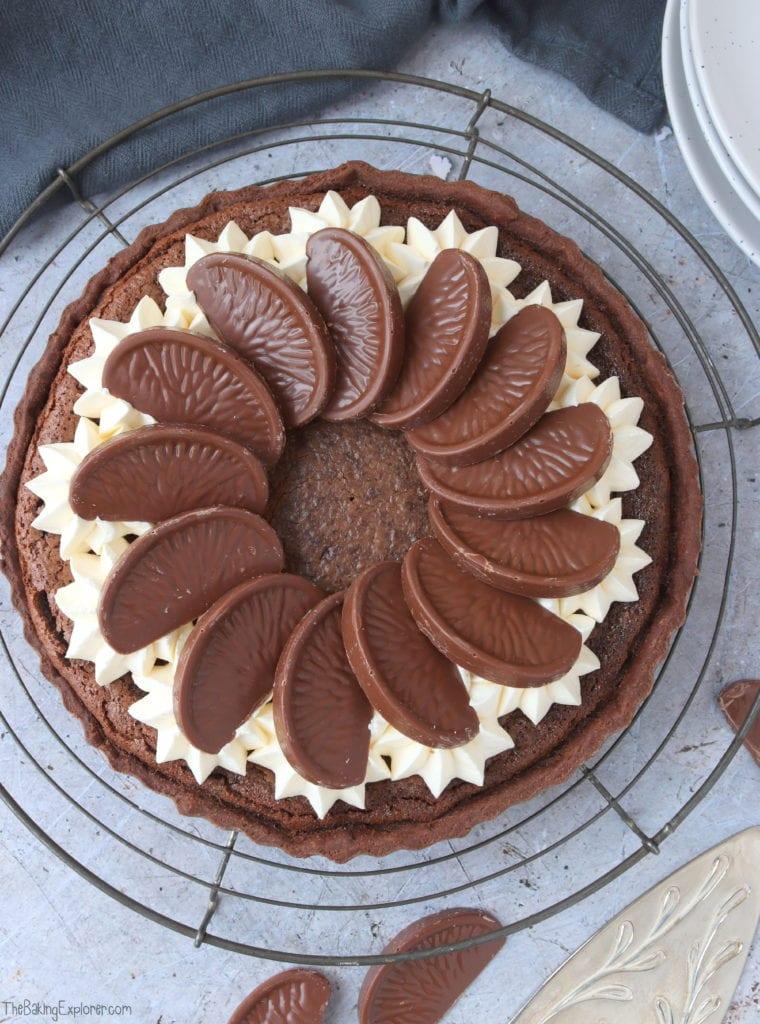 Chocolate Orange Custard Tart