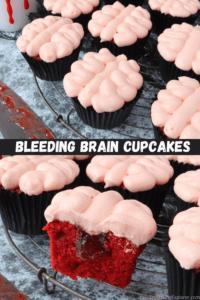 Bleeding Brain Cupcakes