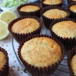 Courgette, Flaxseed & Lemon Muffins