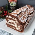 Chocolate Roulade with Baileys Cream