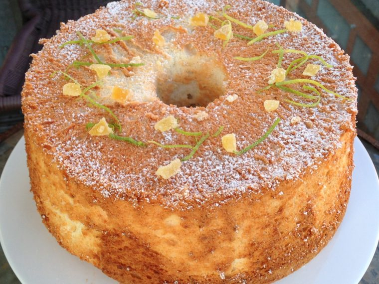 Lime & Ginger Angel Food Cake