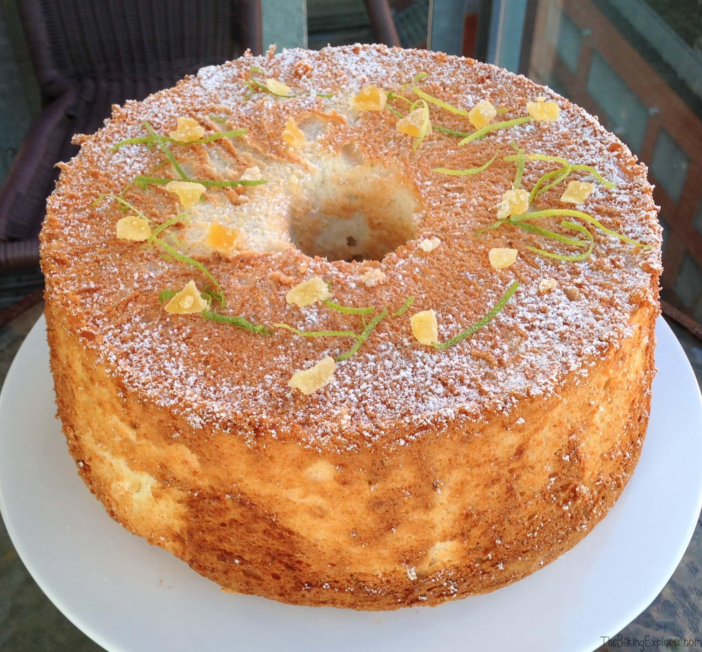 Lime & Ginger Angel Food Cake