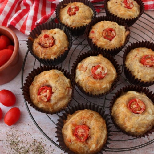 Cheese & Red Pepper Muffins