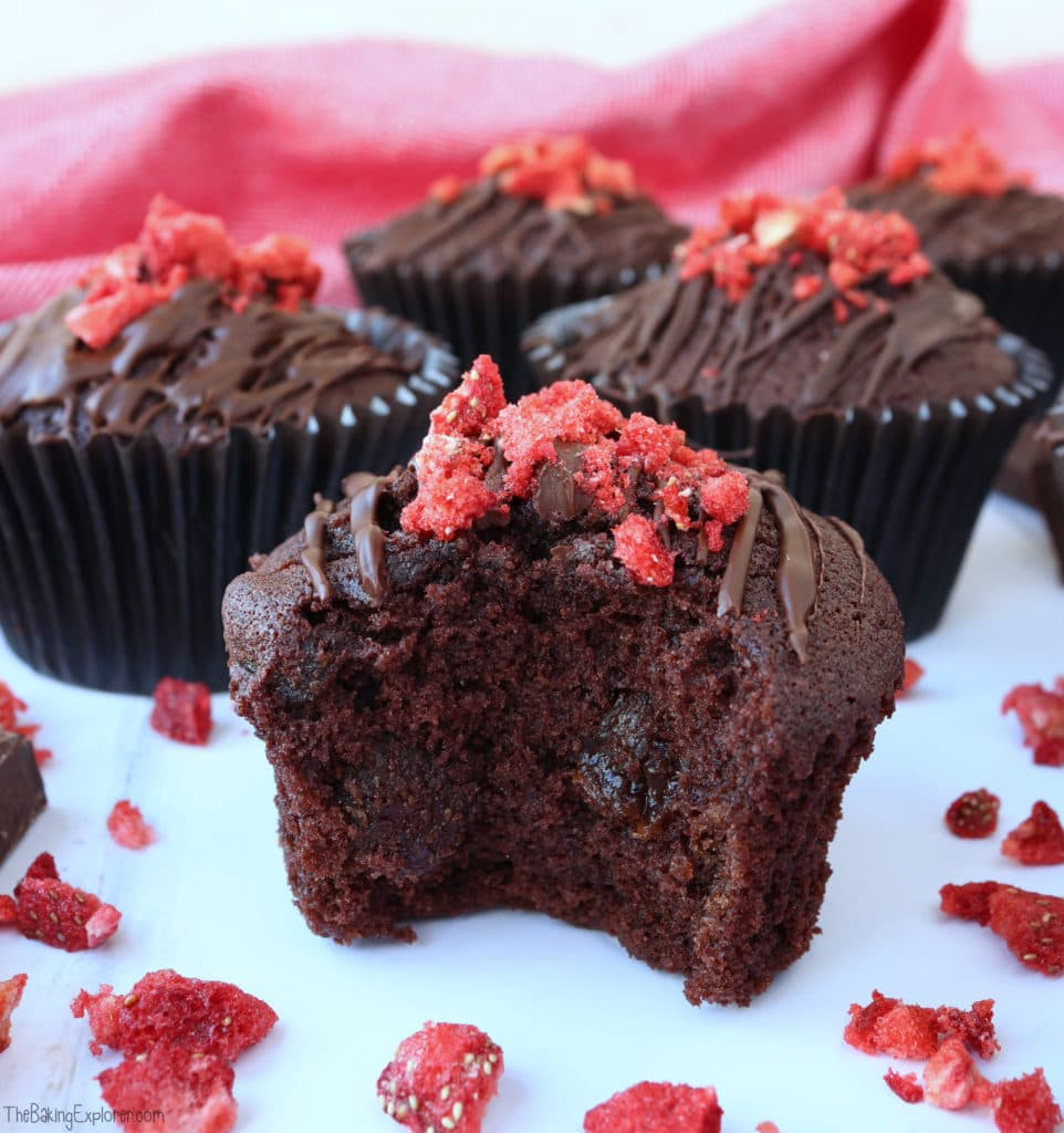Double Chocolate & Strawberry Muffins