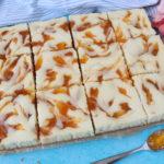 Apricot Swirl Cheesecake Squares