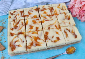 Apricot Swirl Cheesecake Squares