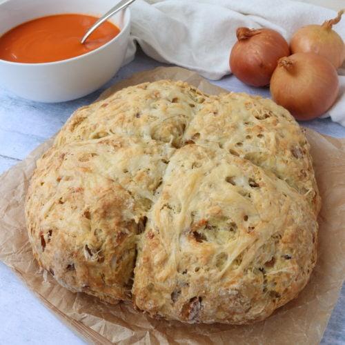 Cheese & Caramelised Onion Soda Bread