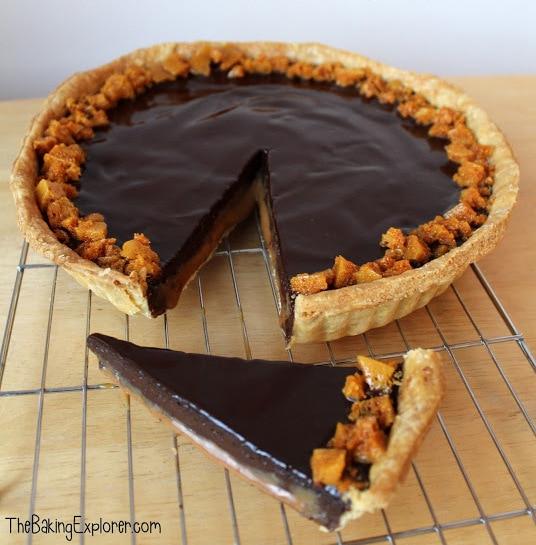 Millionaire's Chocolate Tart: GBBO Week #9