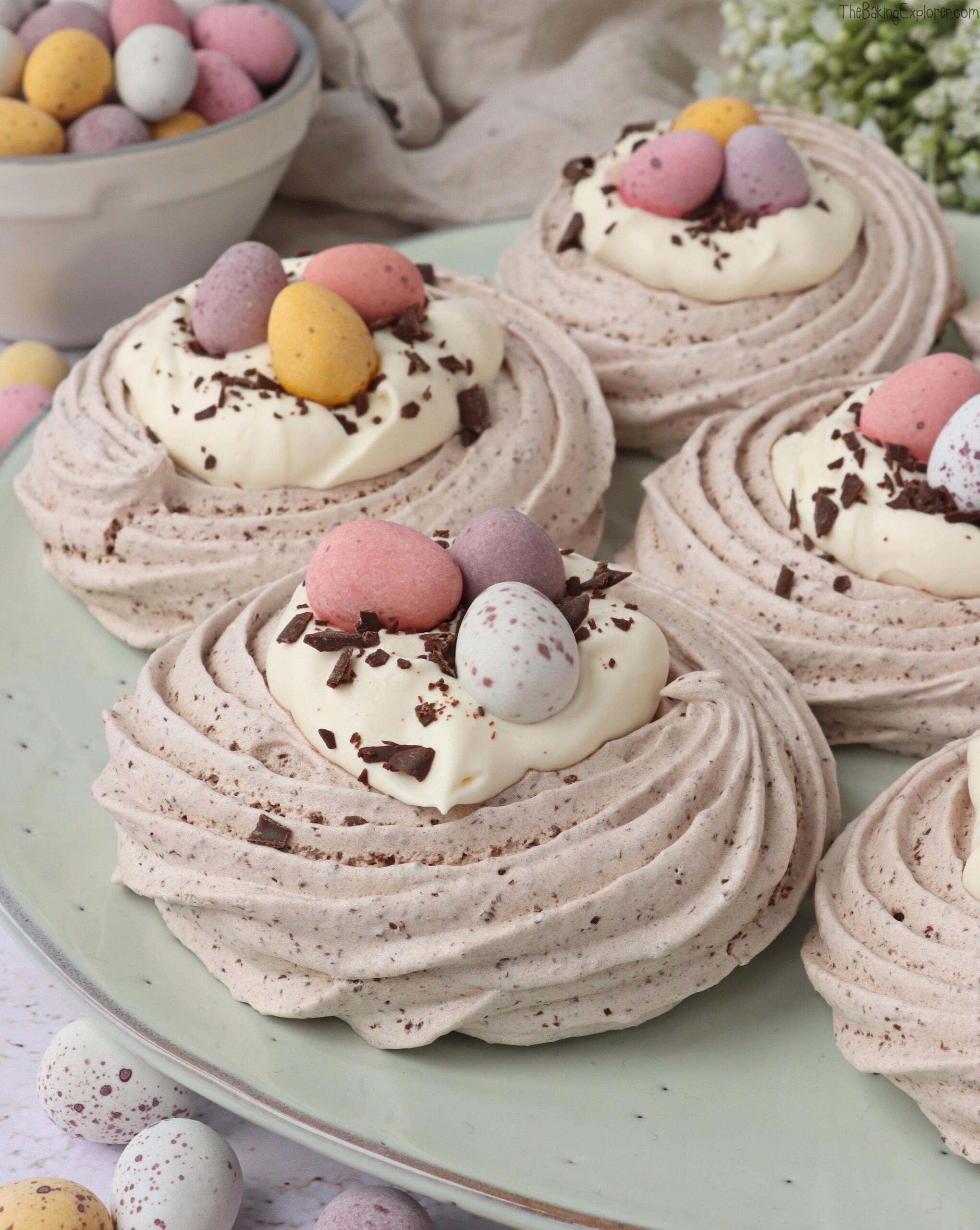 Chocolate Meringue Easter Nests