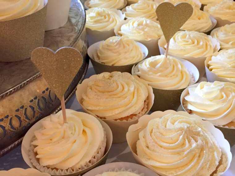 Making 100 Butterbeer Wedding Cupcakes