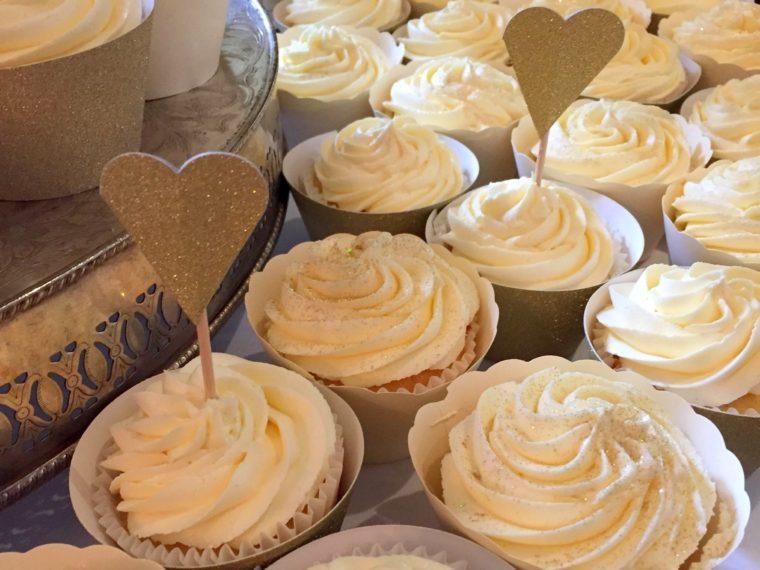 Making 100 Butterbeer Wedding Cupcakes