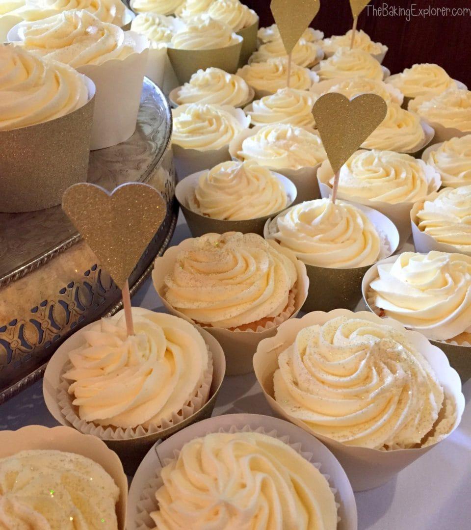 Making 100 Butterbeer Wedding Cupcakes The Baking Explorer