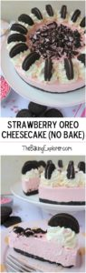 Strawberry Oreo Cheesecake