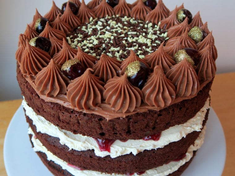 Cherry & Nutella Chocolate Cake