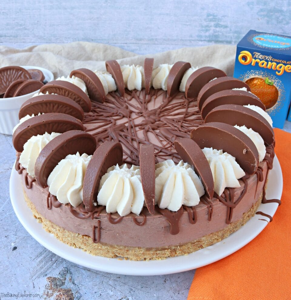 Terry's Chocolate Orange Cheesecake