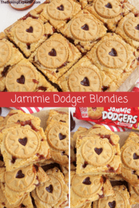 Jammie Dodger Blondies