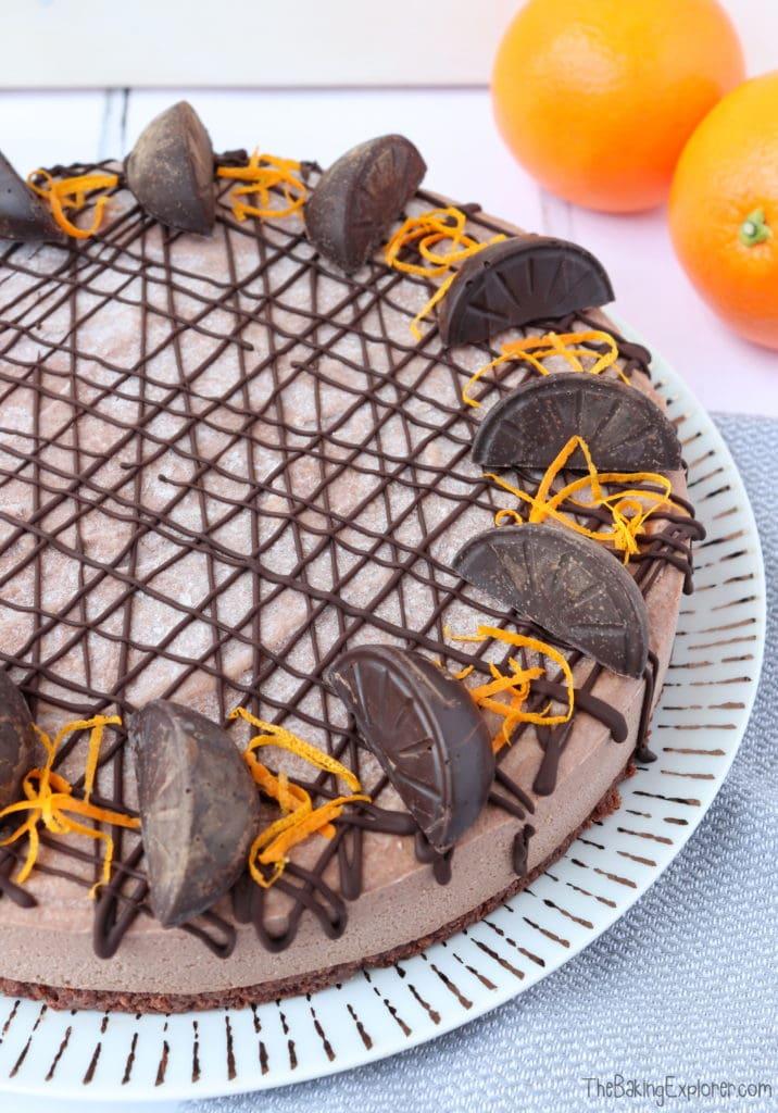 Vegan Chocolate Orange Cheesecake