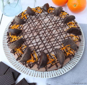 Vegan Chocolate Orange Cheesecake