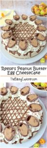 Reese's Peanut Butter Egg Cheesecake