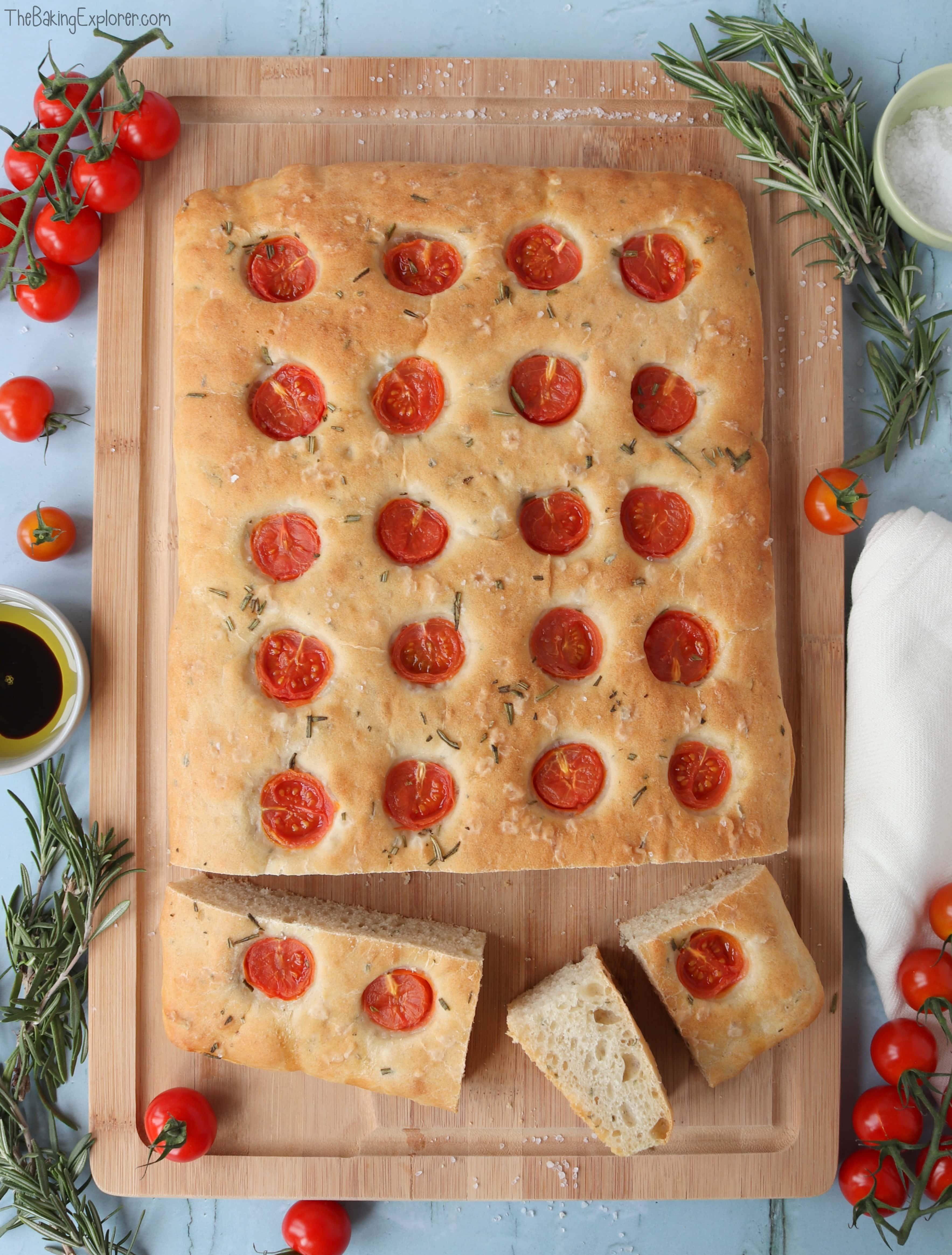 Tomato & Rosemary Focaccia