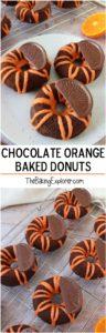 Chocolate Orange Baked Donuts