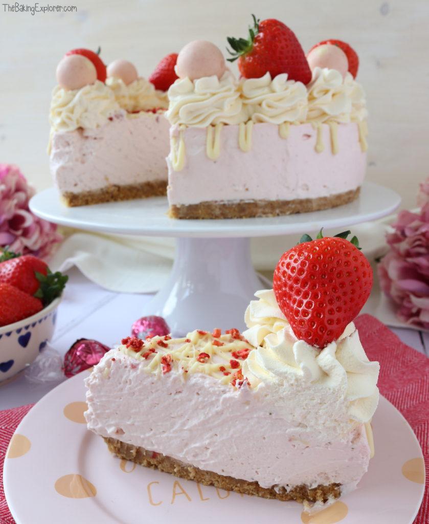 Strawberries & Cream Cheesecake