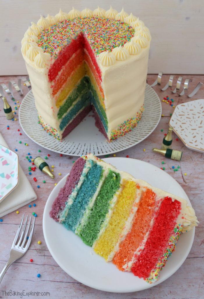 Lemon Rainbow Cake The Baking Explorer