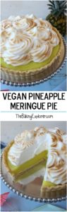 Vegan Pineapple Meringue Pie