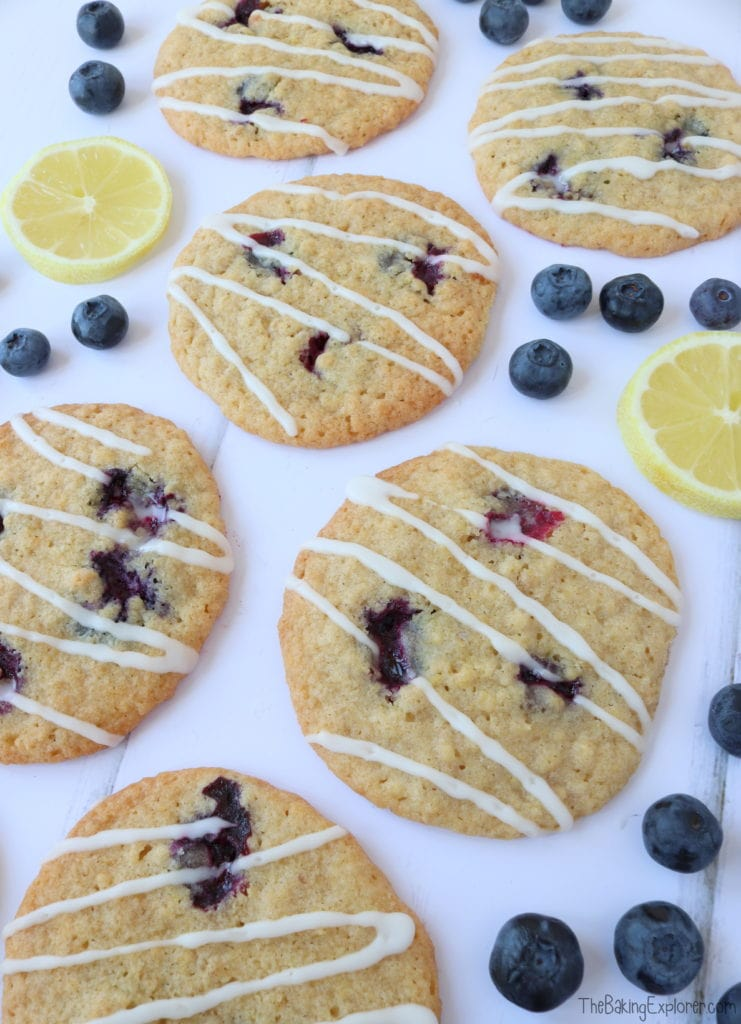Lemon & Blueberry Cookies