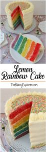 Lemon Rainbow Cake