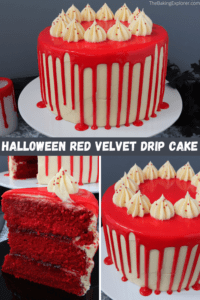 Halloween Red Velvet Drip Cake