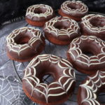 Chocolate Spiderweb Donuts