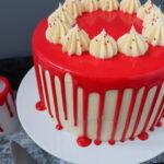 Halloween Red Velvet Drip Cake