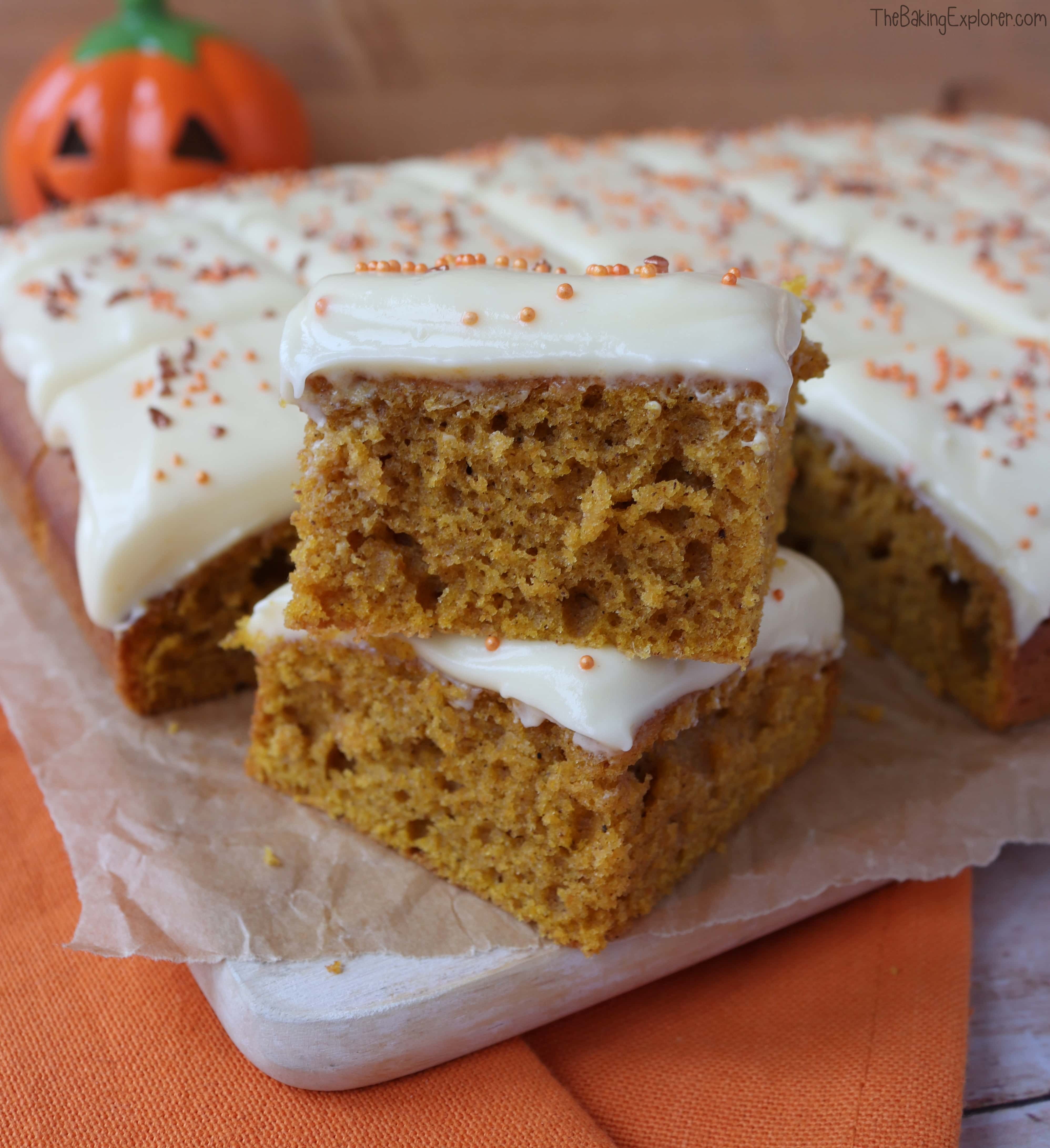 Easy Pumpkin Traybake