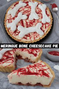 Meringue Bone Cheesecake Pie