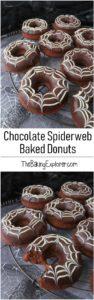Chocolate Spiderweb Donuts