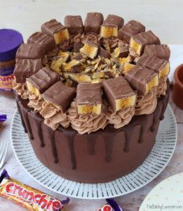 Crunchie Drip Cake