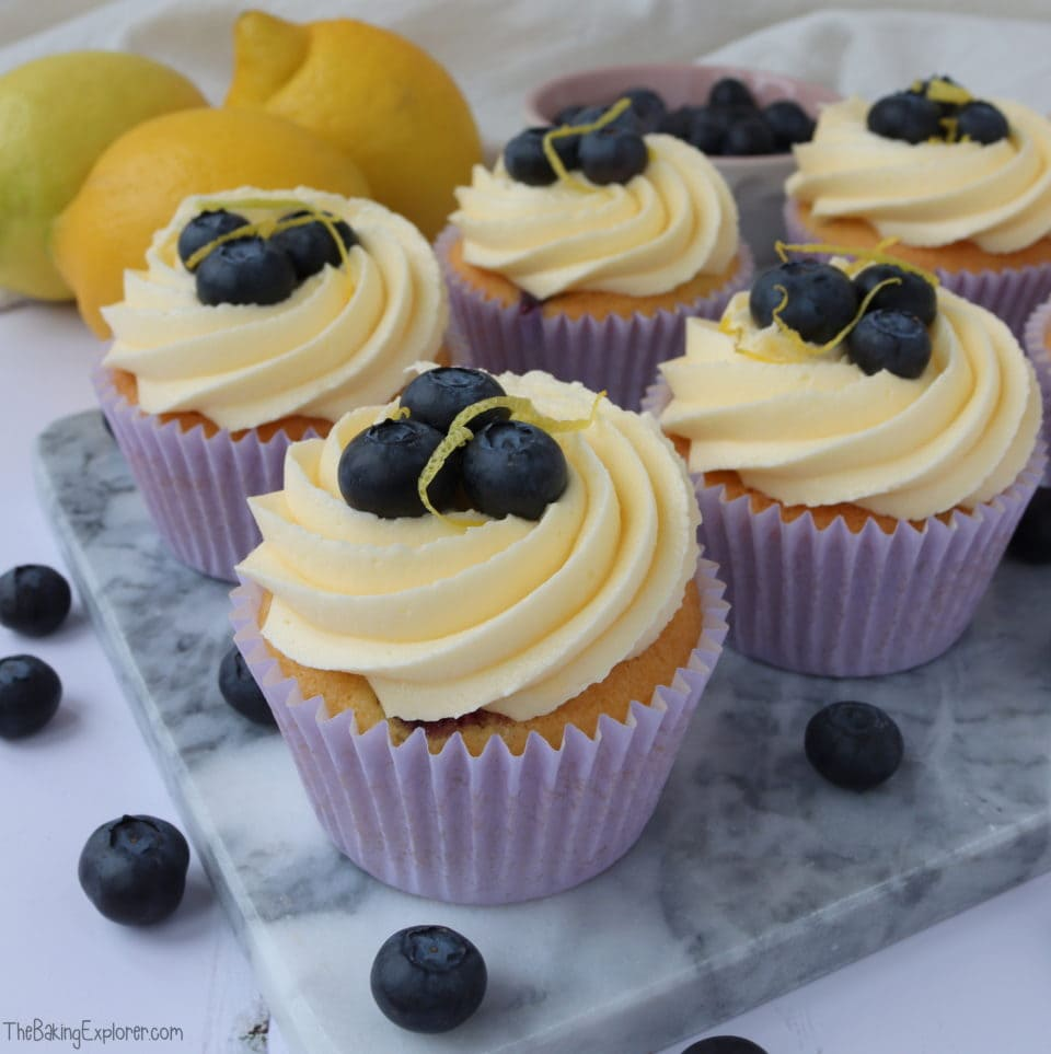 Lemon & Blueberry Cupcakes