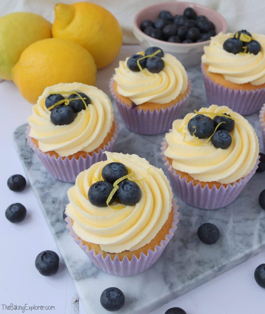 Lemon & Blueberry Cupcakes