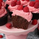 Chocolate & Raspberry Truffle Cupcakes