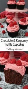 Chocolate & Raspberry Truffle Cupcakes