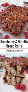 Raspberry & Nutella Bread Rolls
