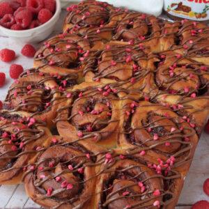 Raspberry & Nutella Bread Rolls